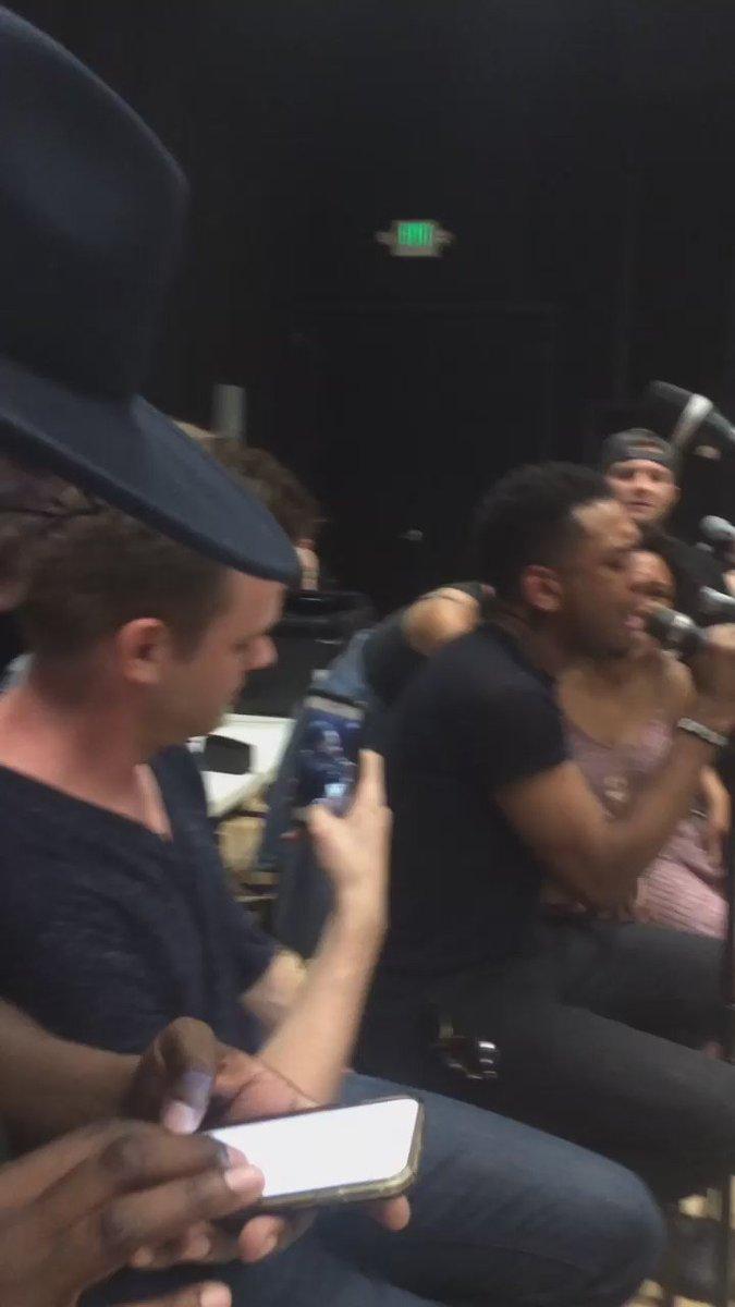 @AmericanIdol #IdolFinale rehearsal @ClarkBeckham @CandiceGlover @Georgehuff4real @joshledet @BlakeLewis https://t.co/8q6VOgrzO7