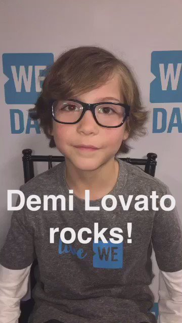 #WEDay Highlight: @JacobTremblay telling Cambio he LOVES @ddlovato ❤️ #AOLGivesBack https://t.co/nayQGtyIOU