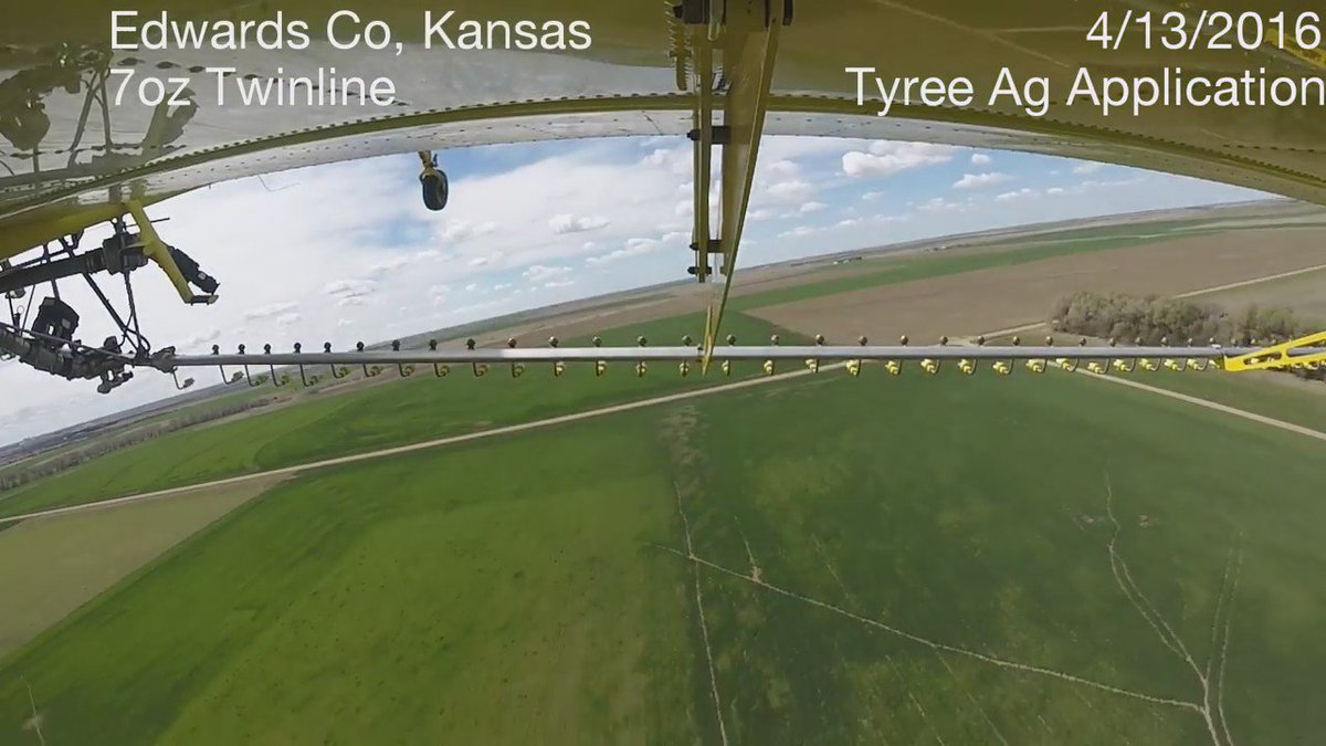 Watch this KS wheat get protected from stripe rust & other diseases with a #Twinline® fungicide aerial application! https://t.co/2MIhZiwJxu