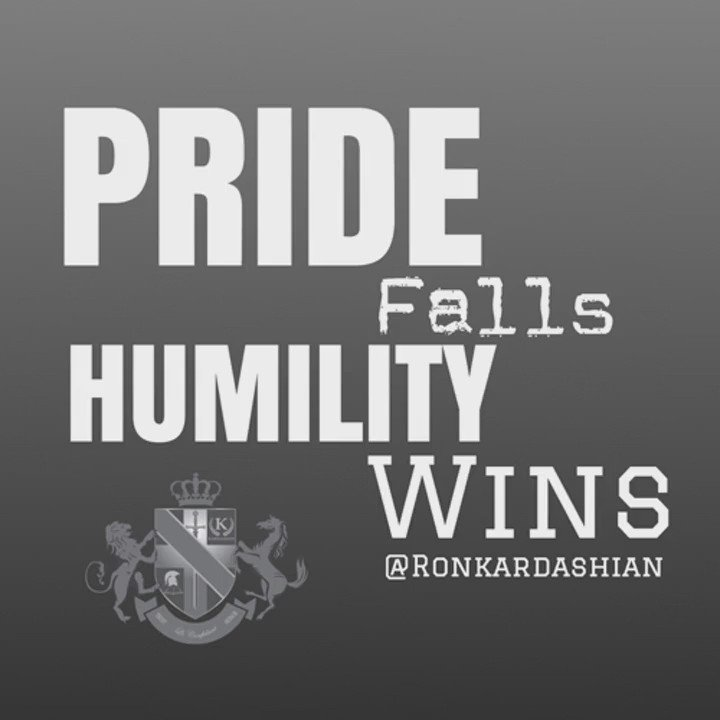 Humility preceeds honor, pride comes before a fall. Stay low, and you will always fly high.  #FridayFeeling https://t.co/rZkdq86tHr