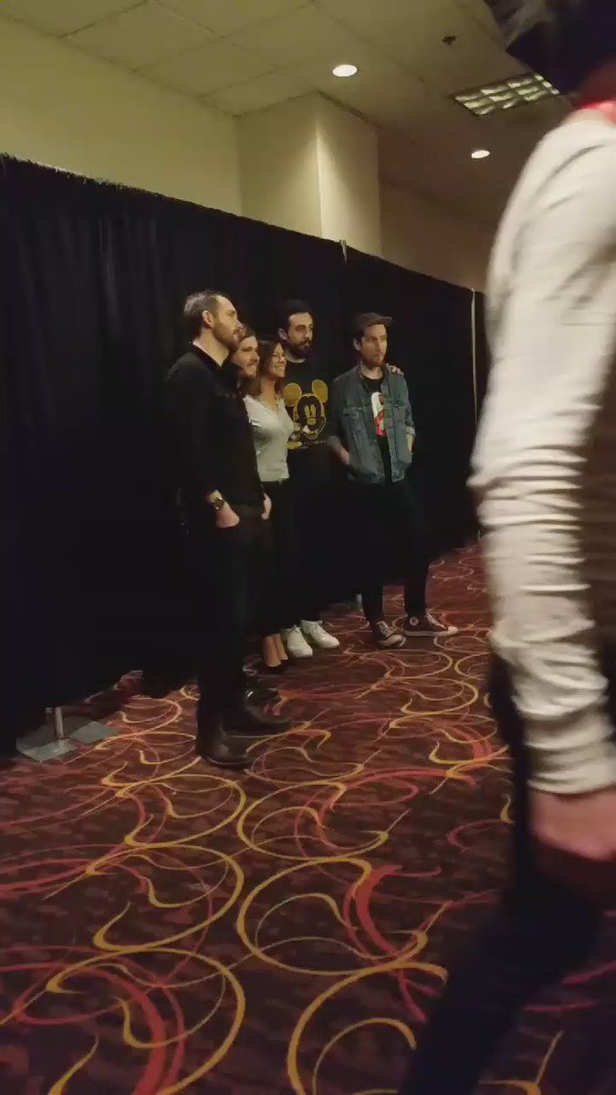 And the night just keeps getting better... Hanging with Bastille before their show! #MME16 https://t.co/xys1gCgsIx