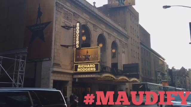 #MAUDIFY @hamiltonmusical #broadway TY @dwattswords  @daveeddiggs so inspired, I wrote this rap during intermission! https://t.co/7RXwyYZerg