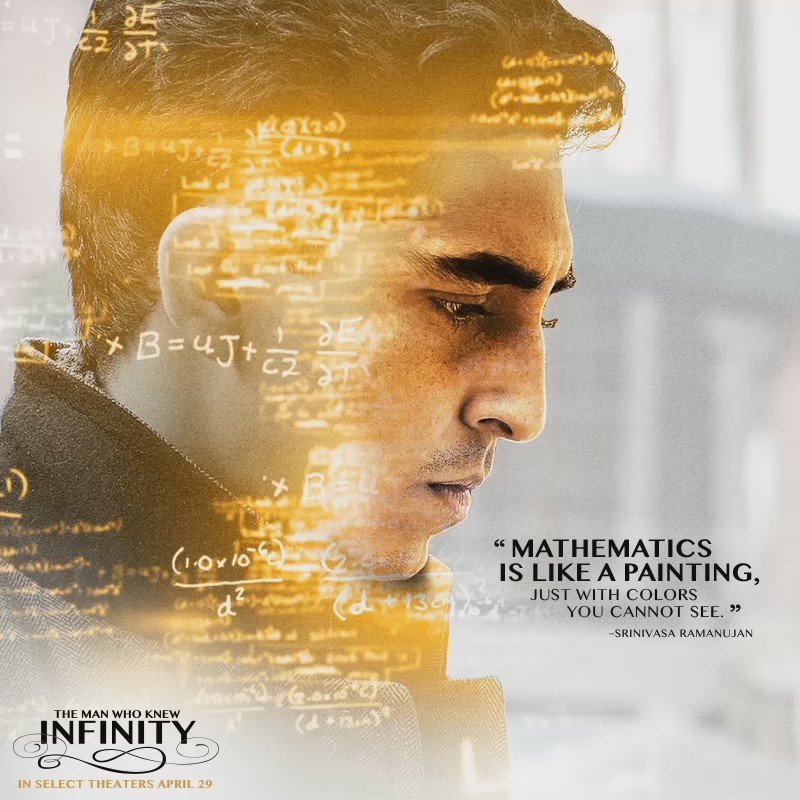 We are so excited for #TheManWhoKnewInfinity, a film about the brilliant Srinivasa Ramanujan! In theaters today! https://t.co/gYZNLOCv7K