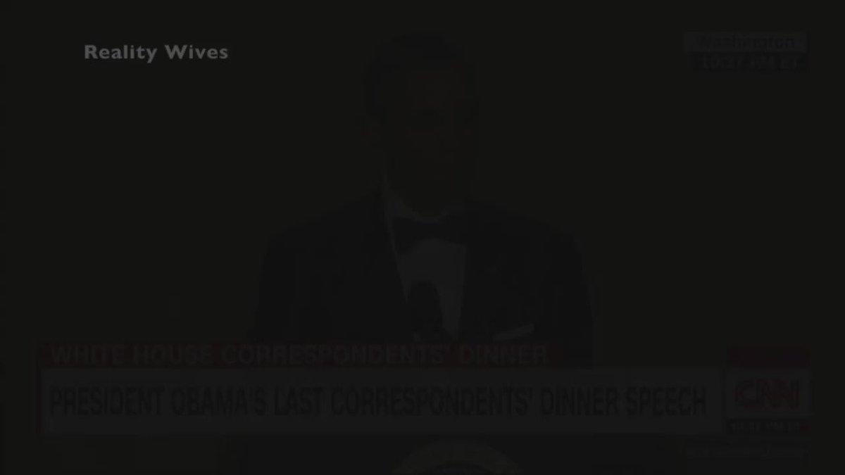 President Barack Obama Drops Mic At Last Correspondents Dinner https://t.co/B8Ey51wMQG #ObamaOut @BarackObama https://t.co/tHF8Fu8hOU