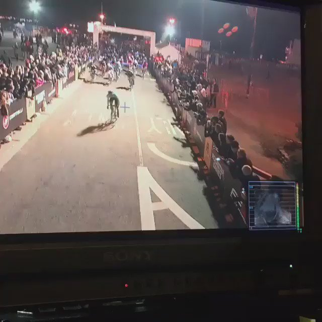 One stalled pace motorcyle caused a horrific cycling pileup