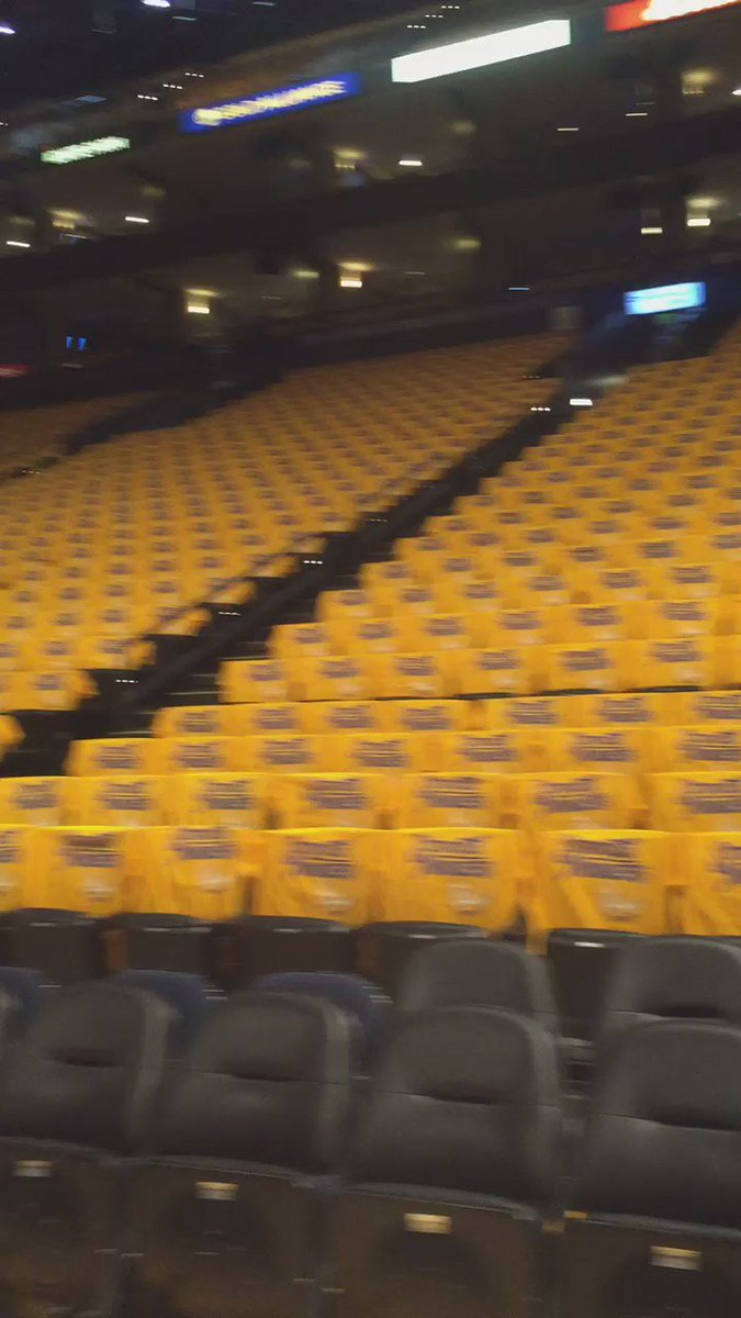 Inside the Oracle ahead of today's @warriors playoff game. DubNation @kron4news