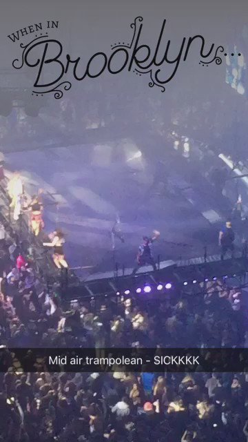 How sick is this!! @justinbieber on a trampoline @barclayscenter! #PurposeTourBrooklyn #PurposeTour https://t.co/rcdxTeHpA2