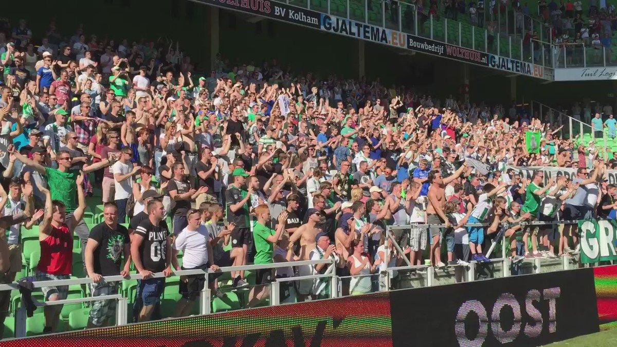 En weer is het feest in Euroborg! FC Groningen heeft zich geplaatst voor de play-offs! https://t.co/h4Sa5qrQG1