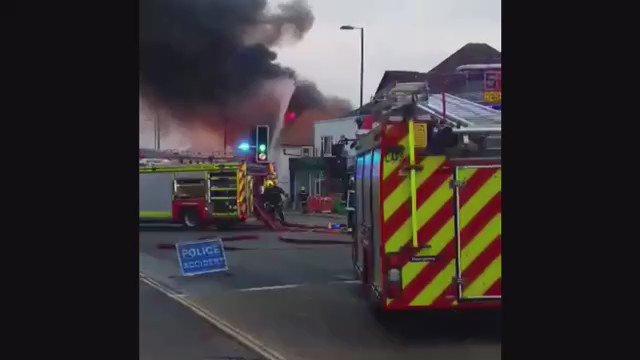 VIDEO: Fire breaks out at Southampton firework factory https://t.co/m02w9qmGrL https://t.co/trd2MpWwPG
