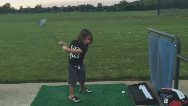 Watch Dash Day quote Happy Gilmore while hitting balls at the range