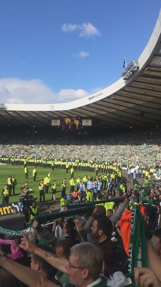 Only one way to end! #Hibs #SunshineOnLeith #ScottishCup https://t.co/sKN1YMnF3t