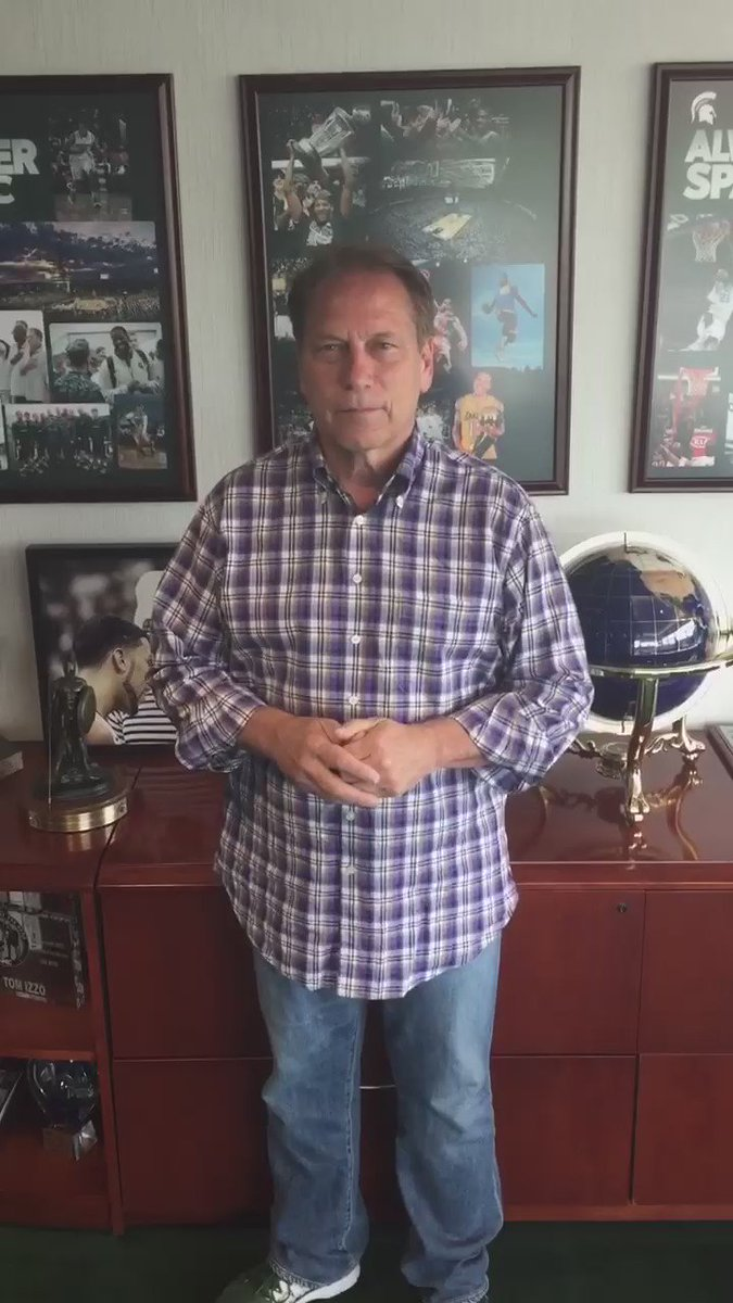 Coach Izzo supporting my @Spartan_Heroes for @thetournament! Appreciate you coach! VOTE! https://t.co/VqScL8YJoe
