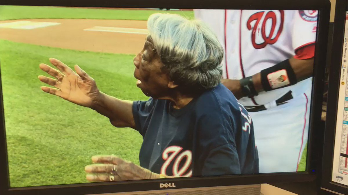 Isn't 107-year young Virginia McLaurin just the sweetest? Nats @wusa9