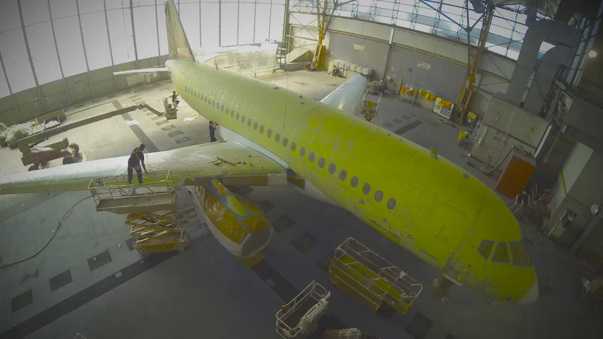 The #SSJ100 CityJet Livery Painting Time Lapse is NOW Online! https://t.co/LFOljbFZX7 Enjoy It! #superjet #livery https://t.co/tOyrEnucxn