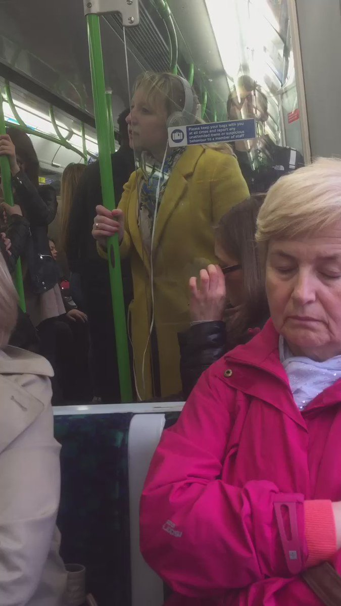 When you can't resist busting a move on the District Line https://t.co/9vuRtHb277