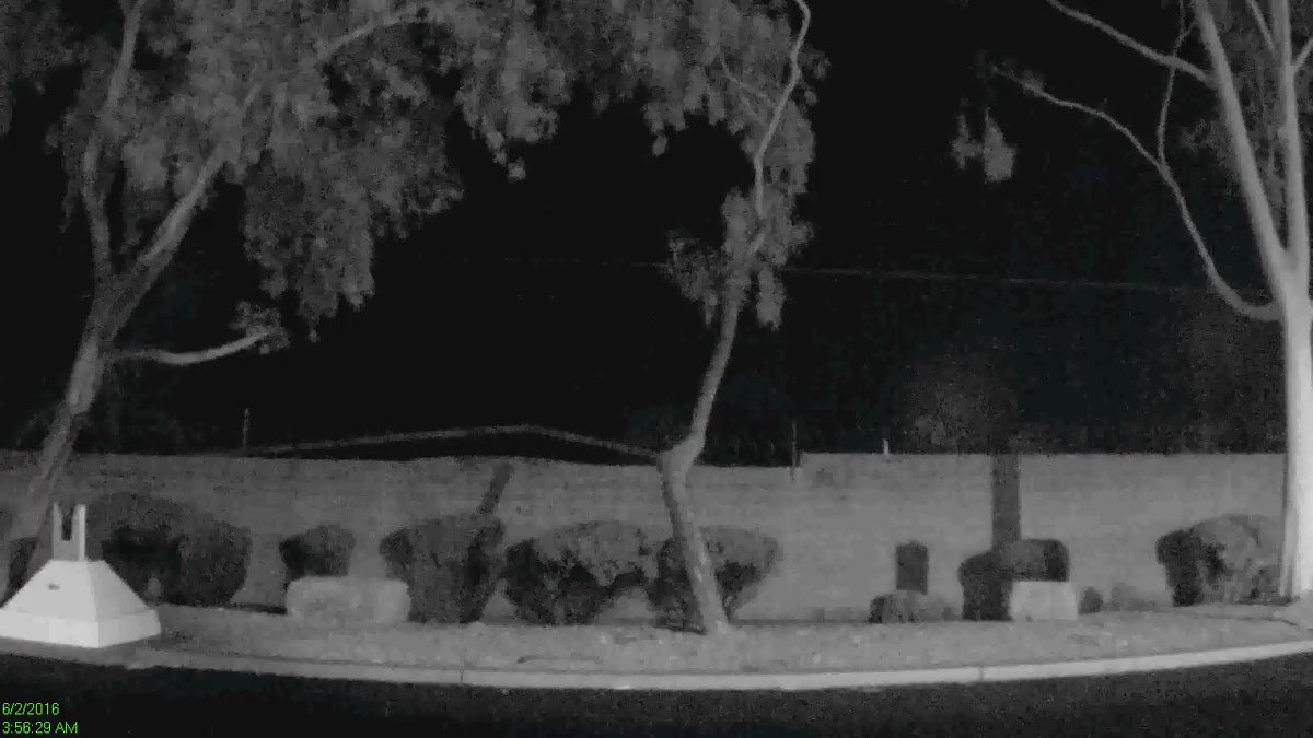 Missed the loud boom and light show this morning? Check out the possible #meteor captured on our security camera! https://t.co/Dv1mxWCKKF