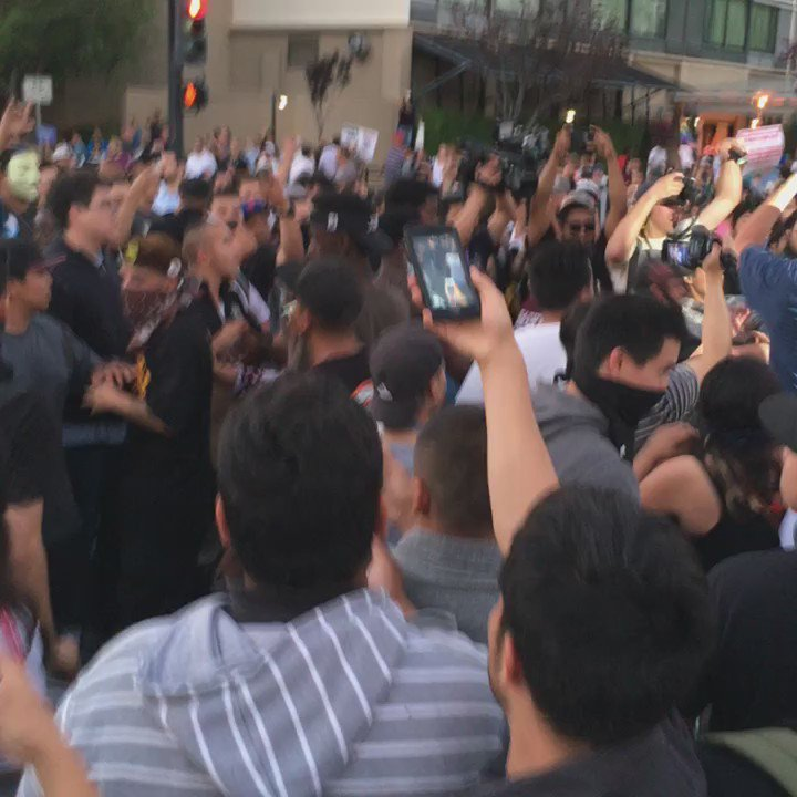 Protesters chase and attack Trump supporters in San Jose