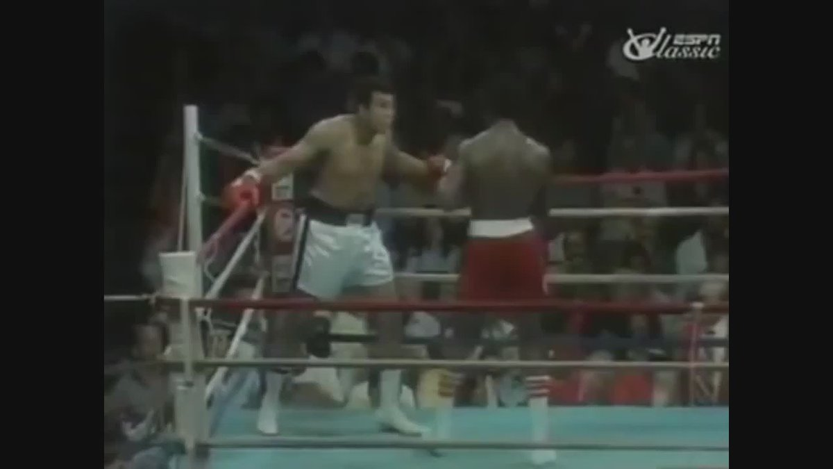Nobody else dodges 21 punches in 10 seconds then shimmies at the opponent. Absolutely the greatest. #MuhammedAli https://t.co/2F4JFZQYx7