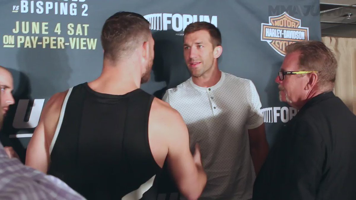 So apparently this rivalry between @ufc champ @bisping and @LukeRockhold isn't quite settled just yet. https://t.co/Wj4XQclYn9