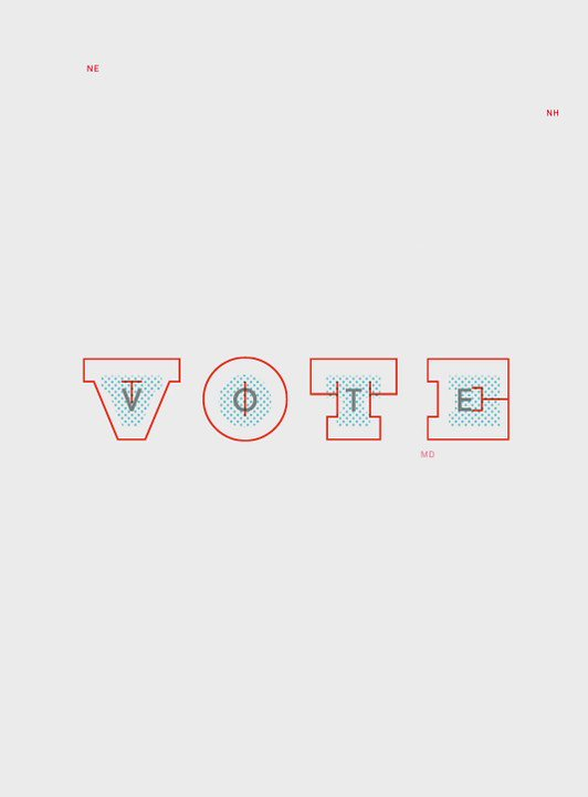 Paula Scher designs poster for @AIGAdesign #GetOutTheVote initiative https://t.co/3BdNEYE7DT https://t.co/kObeRqCVj3