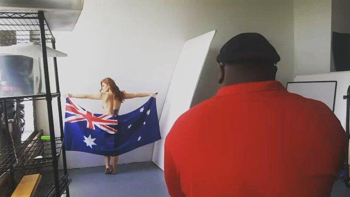 Candice Elizabeth  - fun! Keep vo twitter @Candiceelizabth aussie,flag,australia,straya,redhead
