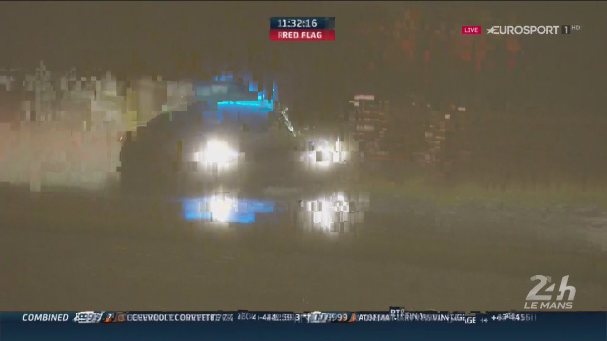 Safety Car Driver Makes Save of the Year During Wet Le Mans 24 Hour Practice