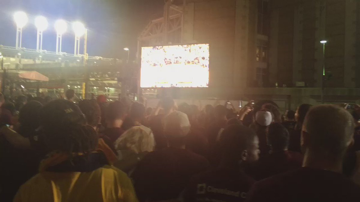 The Moment the Curse was Broken. Filmed LIVE at the Gateway Plaza. I'll never forget this moment. Ever. @cavs https://t.co/dzn8rDPuJv