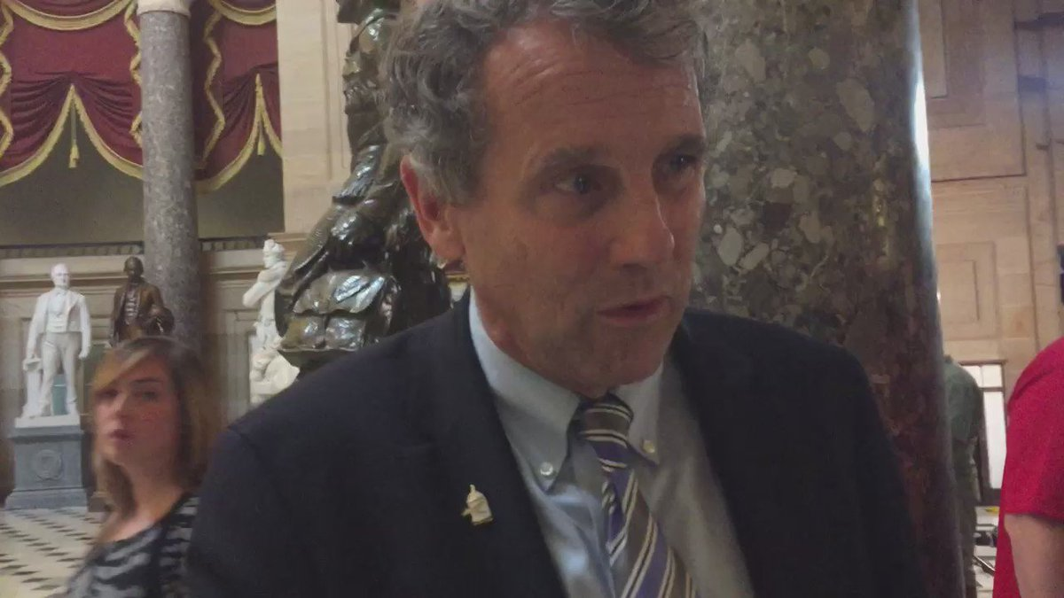 .@SenSherrodBrown stops to talk with us after leaving House floor #sitin @whiotv https://t.co/jFTLD8lfaL