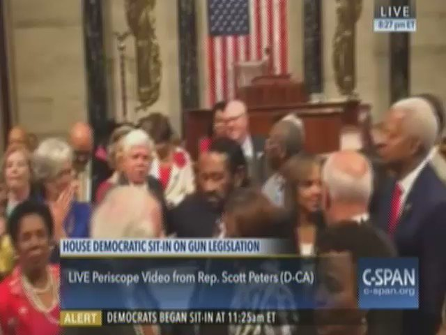 """I'd like to make a motion to stay here as long as we have to til we get a vote!"" #NoBillNoBreak https://t.co/Dpiw9gXBmR"