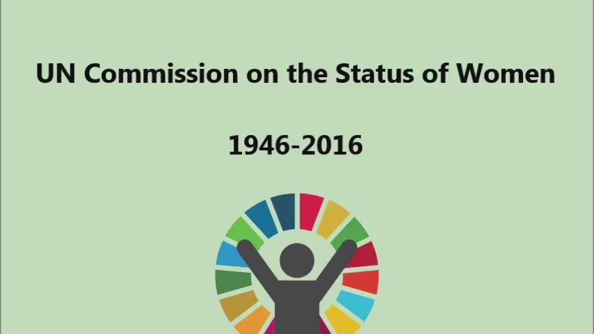 #ThrowbackThursday: This week marks 70th anniversary since creation of the Commission on the Status of Women! #TBT https://t.co/oeZSTDrQcm