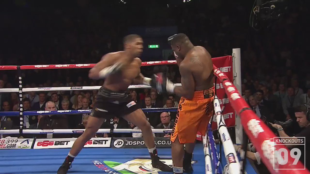 No one has escaped @anthonyfjoshua yet! Another KO coming on @ShowtimeBoxing Saturday #PunchPerfect #SweetScience https://t.co/IBw1qwbMEr