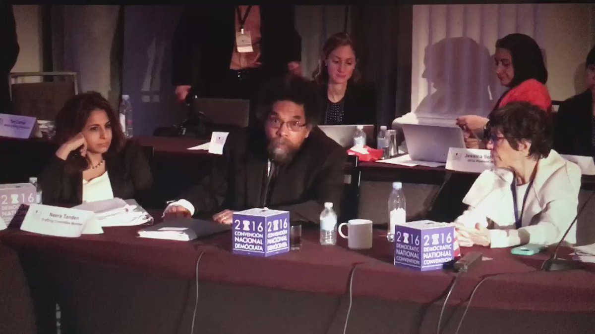 Cornel West abstains from supporting the platform out of basic morals. Very powerful speech. #DemPlatform https://t.co/7nOCpNeTbP