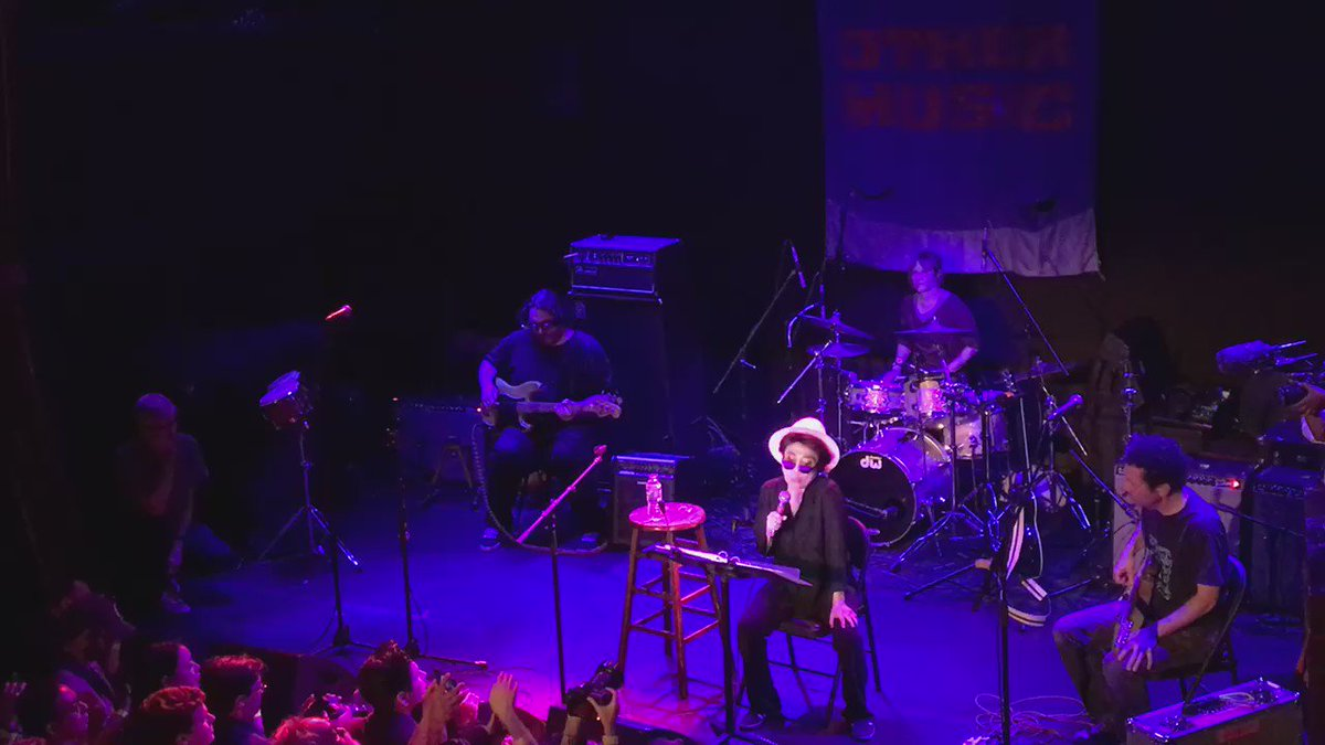 Yoko Ono with Yo La Tengo #othermusicforever https://t.co/mKPyhfCaRQ