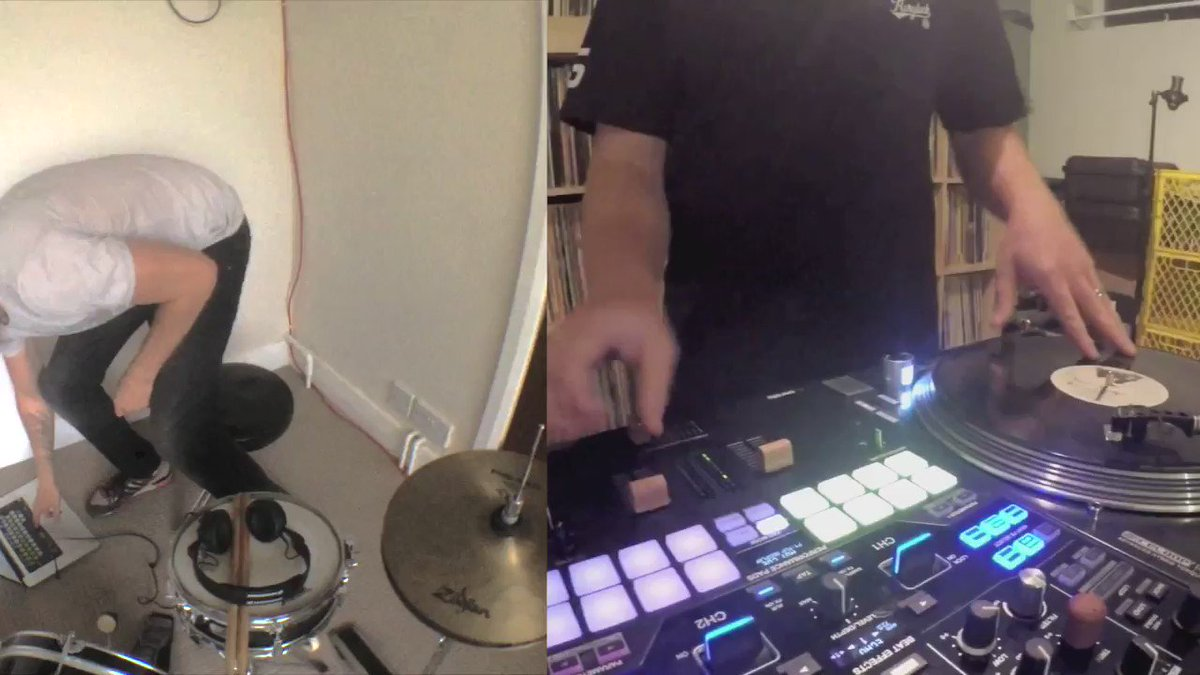 Hey @SkratchBastid here's some drums to go with those cuts! https://t.co/wHcbEz1l3U