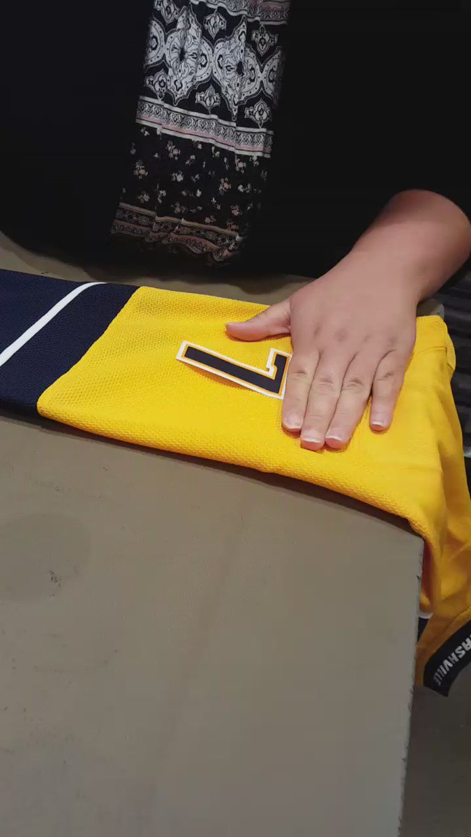 Making the #Subban jerseys @PredsProShop #Preds https://t.co/HWsdYUHwAa