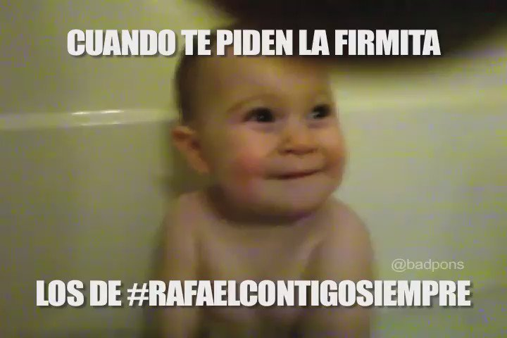 El bebé sabe y no come cuento. Cuando te pidan la firmita para #RafaelContigoSiempre jaja https://t.co/Ec0rcqy7GB