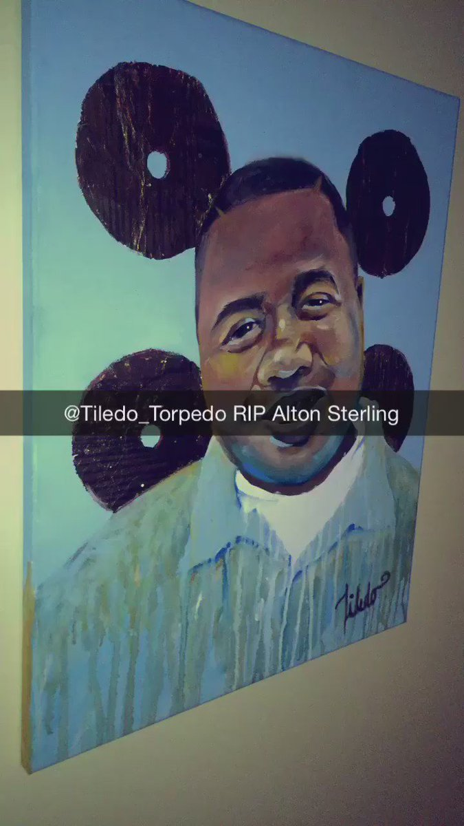 I'm done painting & crying for the night . Justice for #altonsterling