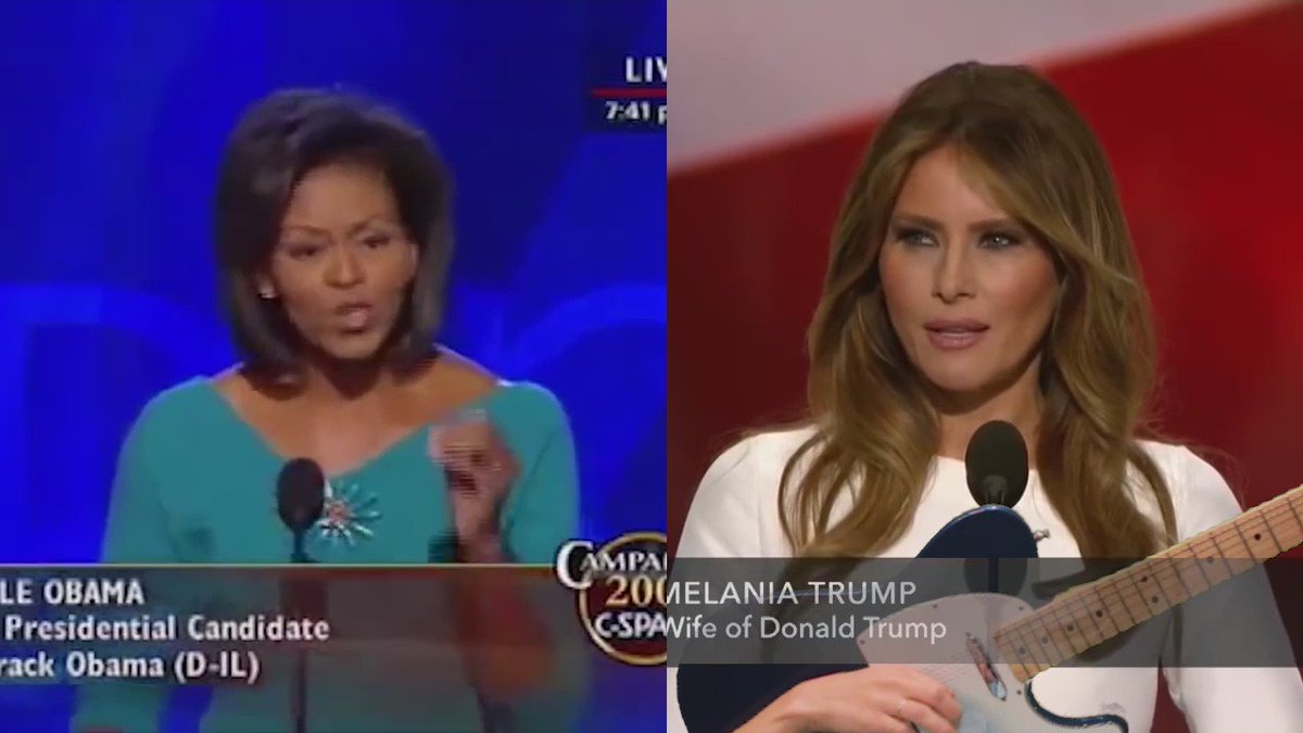 I don't get all the plagiarism hype--it's obvious that Melania was traversing space-time to harmonize & bring peace https://t.co/pl3xf6IHai