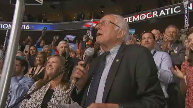 Did you miss @BernieSanders' call to nominate @HillaryClinton? DemsInPhilly DemConvention