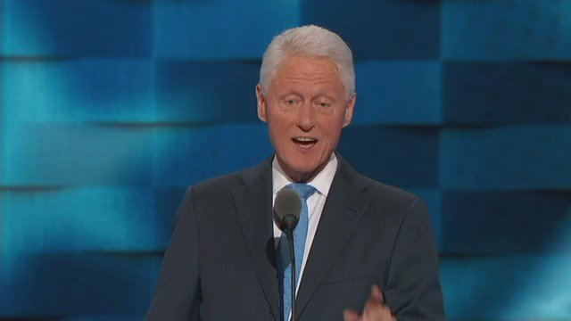 @BillClinton gives wife lift with love story, her work & efforts as senator & sec of state