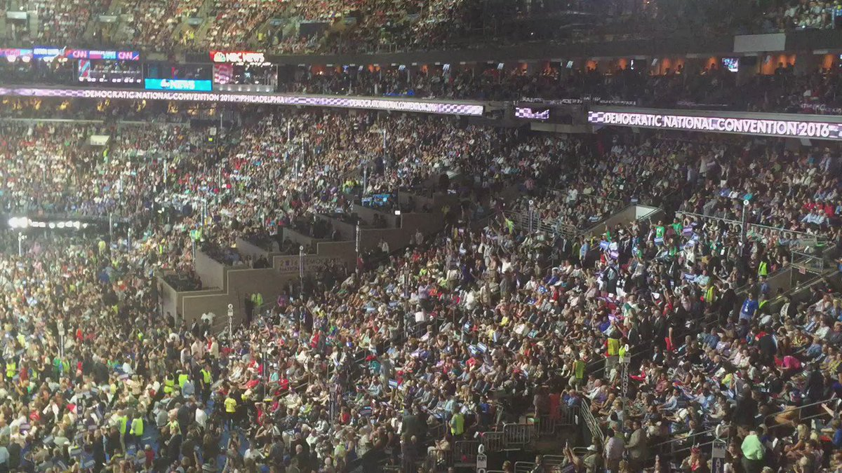 CBSPhillyDNC crowd chants 'No More War' while Leon Panetta talks about our country's enemies.