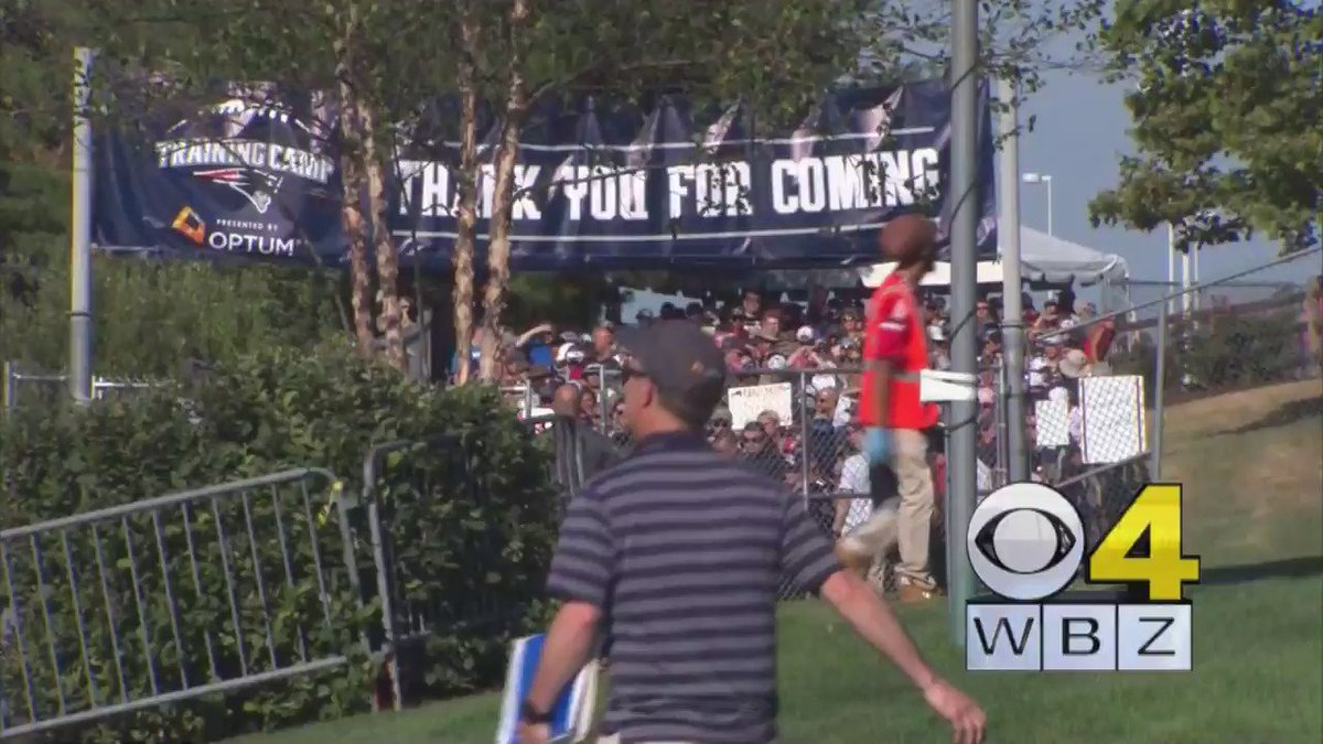Here's the video of the fans stampede as Patriots opened training camp today WBZ