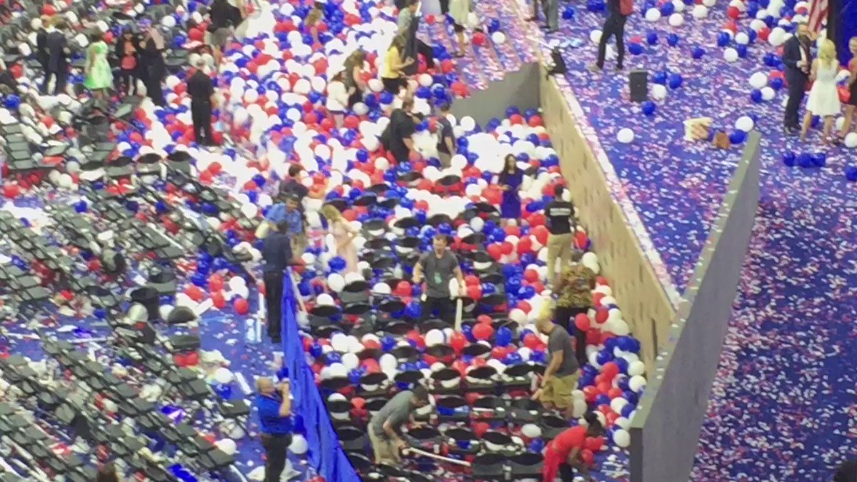 Ever wonder how they pop the balloons after the convention is over? DemsInPhilly abc7eyewitness