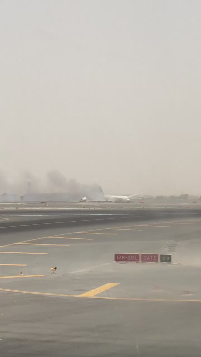 The Boeing 777 aircraft crash landed, from Trivandrum was scheduled to land at 12.50 pm at Dubai. https://t.co/6VnryGj6i5