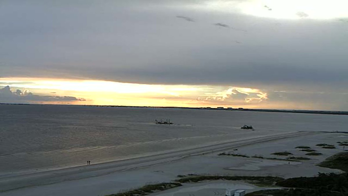 Amazing Sunset From Our Pink Shell Weather Camera On Fort Myers Beach Sunsets