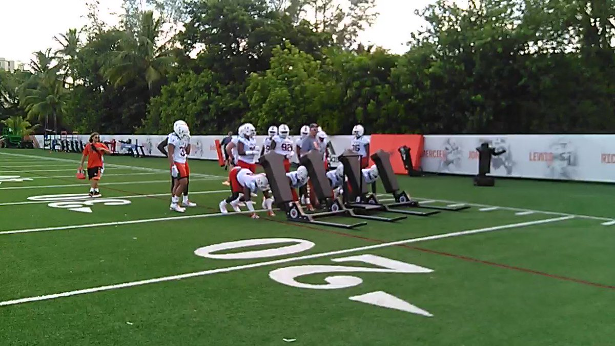 Defensive line slamming the sleds https://t.co/eJuZzYQcgk