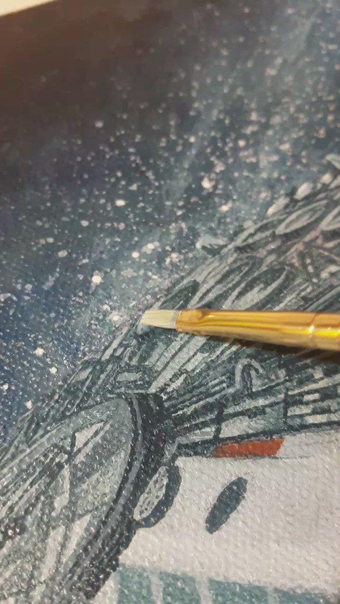 Angela Bermudez  - This is MADN twitter @AngelaBermudezA wip,art,painting,space,acrilycs