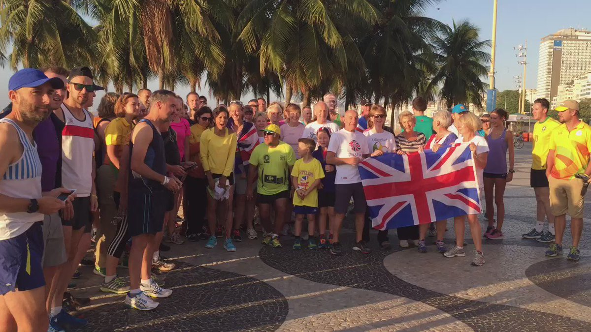 What better way to start #SuperSaturday than with @parkrunUK on Copacobana beach with @damekellyholmes @TeamGB