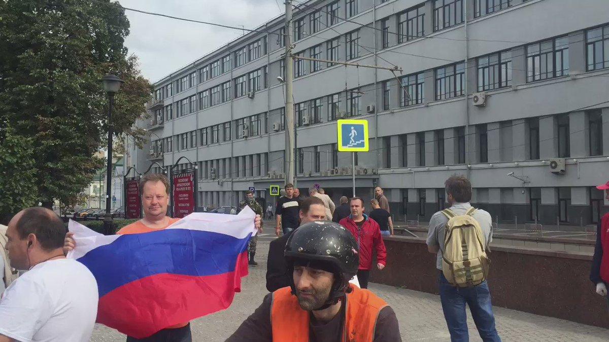 У Москві побили учасників мітингу проти війни з Україною