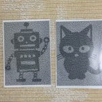 ロボットの絵と猫の絵を重なると…驚きの展開に一同騒然!まじすげえ!